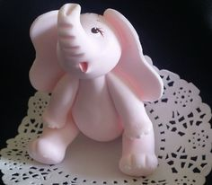 Elephant Cake for Girls in Pink, Elephant Theme Baby Shower Centerpieces, Pink and Gray Baby Shower Theme, Elephant Decoration, Pink Elephant Cake Topper - Cake Toppers Boutique  - 1