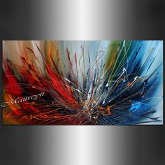 ORIGINAL painting Red ABSTRACT ART Canvas Art Contemporary Paintings wall Art #Abstract