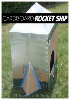 How To Make A Cardboard Box Rocket Ship. DIY rocket ship for kids.
