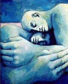 """Pablo Ruiz Picasso. """"Desnudo Azul"""" 1902"""