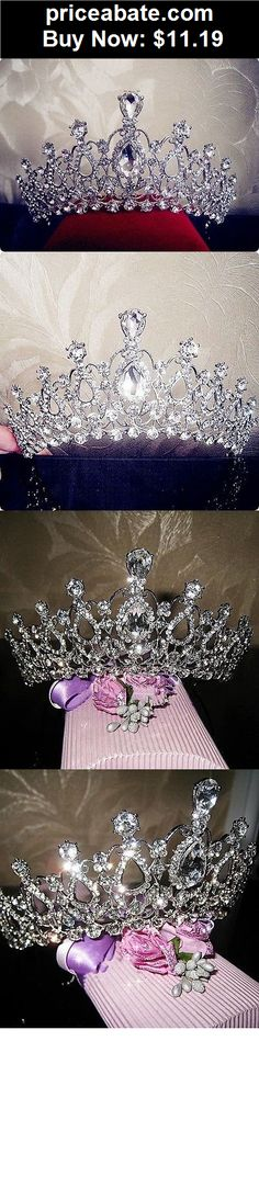 Bridal-Accessories: Hot Crystal Tiara Crowns Hair Jewelry Rhinestone Wedding Pageant Bridal Headband - BUY IT NOW ONLY $11.19