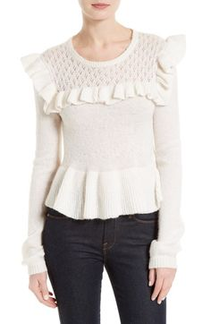 La Vie Rebecca Taylor Ruffle Sweater available at #Nordstrom