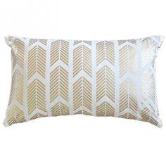 Caitlin Wilson Textiles: Gold Arrows Pillow