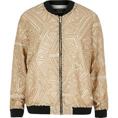 Gold embellished bomber jacket £60.00