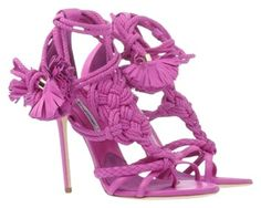 Brian atwood yuna knotted sandal. 5 inch heel. Brand new in box. Tried on for fit otherwise never worn