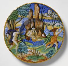 Plate with Apollo and Daphne, Workshop of Guido Durantino, Urbino, Italy, 1535