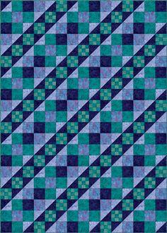 California Hourglass Quilt Pattern