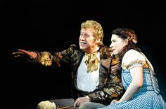 Michael Crawford as Professor Marvel, Danielle Hope as Dorothy - photo: Keith Pattison. Really Useful Group production of The Wizard of Oz. Broadway Theatre, Musical Theatre, New Wizard Of Oz, Dorothy Gale, Bbc Tv, West End, Over The Rainbow, People Like, Musicals