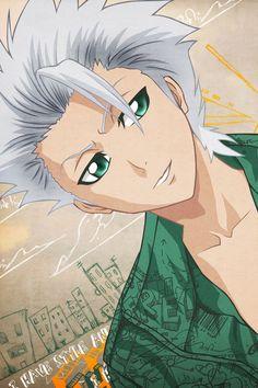 Toushiro hitsugaya: for once he isn't having a cold calculating look.