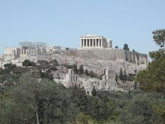 he Acropolis of Athens and its monuments are universal symbols of the classical spirit and civilization and form the greatest architectural and artistic complex bequeathed by Greek Antiquity to the world. Athens Acropolis, Athens Greece, Monuments, Places To See, Places To Travel, Europe Places, Travel Around The World, Around The Worlds, Greek Antiquity