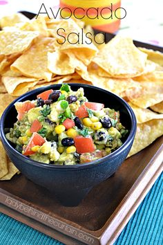 This Avocado Salsa is a twist on the classic Guacamole.  Full of flavor and ingredients that would be in a salsa.