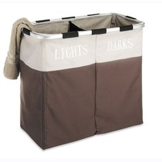 This java colored double hamper also works as a laundry sorter that has an external lightweight aluminum frame with interior tent poles which keep the hamper upright and sturdy. The exterior is made o