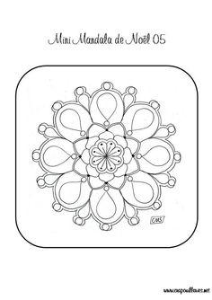 """Le cinquième mini mandala: """"De temps en temps, il est bon d'arrêter notre quête du bonheur et d'être tout simplement heureux."""" Guillaume Apollinaire  - minimandala05.pdf A vos imprimante!"""