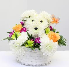 puppy made of flowers - Google Search