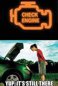 Check engine - Yup, it's still there. Click on the link, like the pin, repin it and leave a comment :-)