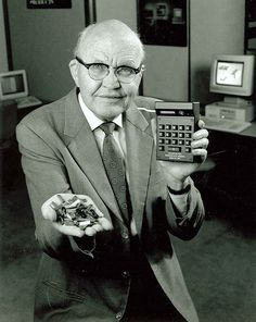 1958: The microchip is invented.