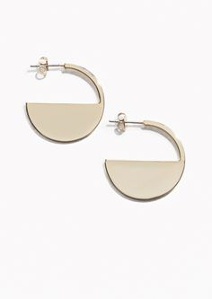 & Other Stories Half Moon Earrings in Gold