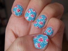 #nailart #nails #floral #cathkidston