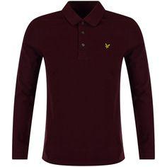 LYLE & SCOTT Lyle & Scott Claret Coloured Polo Shirt - Polo Shirts from…