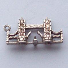 Tower Bridge London Sterling Silver Charm by greenlandturtle, $25.00