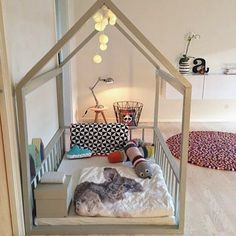 Decoración infantil, 6 camas casitas de madera Check more at http://decoracionbebes.com/decoracion-infantil-6-camas-casitas-de-madera/