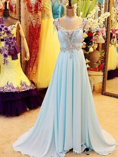 Wholesale Real Sample Light Blue Chiffon Crystal Prom Party Dresses Beaded Backless Greek Arabic Style Evening Celebrity Pageant Gowns Plus Size 2014, Free shipping, $155.5/Piece   DHgate Mobile