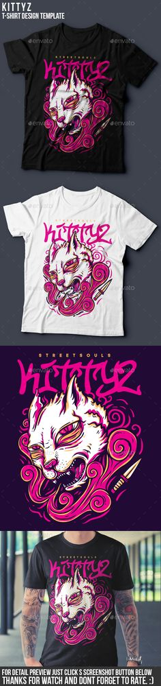 Kittyz TShirt Design — Vector EPS #artwork #pink • Available here → https://graphicriver.net/item/kittyz-tshirt-design/19628642?ref=pxcr