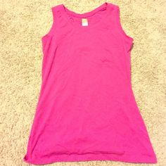 Hot Pink Lucy sleeveless workout top Size small hot pink Lucy workout sleeveless top. Excellent condition!! Lucy Tops Tank Tops
