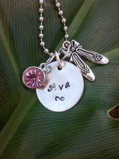 Hand Stamped Dance Necklace by Metallic Kreations  www.etsy.com/shop/metallickreations