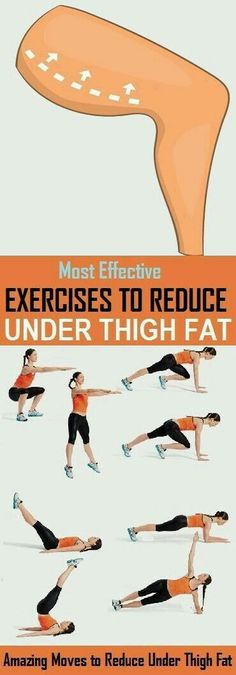 Fitness Motivation : Description 8 Best Exercises to Reduce Under Thigh Fat – stylecrown.us-The under Thigh fat at is a common problem nowadays. Being busy in sitting job, people face increase in the unwanted fat on lower part […] Fitness Workouts, Fitness Motivation, Sport Fitness, Easy Workouts, Fitness Diet, Yoga Fitness, Health Fitness, Fat Workout, Workout Routines