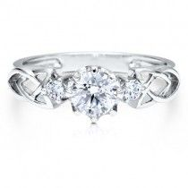 Sterling Silver 925 Cubic Zirconia CZ 3-Stone Fashion Ring