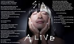 I've got a one way ticket to the place where all the demons go...  Alive-Sia