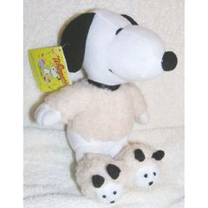 "Peanuts 6"" Plush Snoopy in Lamb Shirt and Slippers -- Want additional info? Click on the image. (This is an affiliate link) #Puppets"