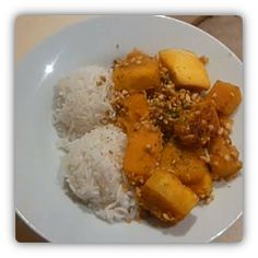 Peanut and squash stew - National dish of Chad.  Stew containing peanuts and squash served with rice.