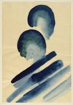 Georgia O'Keeffe / Blue #2 / watercolor on paper / 1916