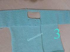 Hamaratablam: Kolay bebek ceketi açıklaması & Baby jacket description Baby Knitting Patterns, Knitting Stitches, Crochet Baby, Knit Crochet, Baby Cardigan, Hello Everyone, Knitting Projects, Kids Fashion, Easy