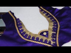 perfect blouse back neck design cutting and stitching at home (DIY) # saree blouses for women - YouTube
