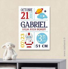 Cadeau de naissance bébé, stats de naissance, décoration chambre enfant garçon fille - Fichier Imprimable - n°72 : Décoration pour enfants par cashemir