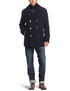 a661497ae1c Calvin Klein Men s Wool Pea Coat with Bib