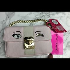 Betsey Johnson Cat Selfie Clutch Handbag Soft Pink New with tags - cute kitty bag with detachable gold hardware chain handle.  TRADES . Discounts with BUNDLES only  Betsey Johnson Bags Clutches & Wristlets