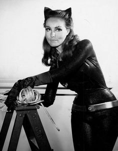 Meow!  Julie Newmar as Catwoman, sans mask.  :)