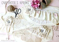 Vintage Lace and Rose Carpenter's Aprons