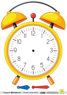 Clock Learning For Kids, Clock For Kids, Teaching Time, Teaching Math, Numbers Preschool, Preschool Activities, Math Clock, Clock Face Printable, Visual Perception Activities