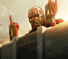 anime Otaku anime gif Animes anime gifs snk Otakus shingeki no kyojin AOT colosal attack on titan Colossal Titan titan colosal