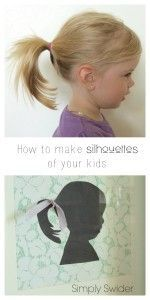 tutorial-Quick and easy DIY silhouettes