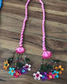 Crochet Accessories, Handmade Accessories, Handmade Jewelry, Handmade Crafts, Diy And Crafts, Fabric Jewelry, Crochet Fashion, Loom Beading, Craft Tutorials