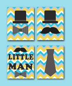 Kids wall art Kids Art Little Man Nursery Baby Boy by artbynataera