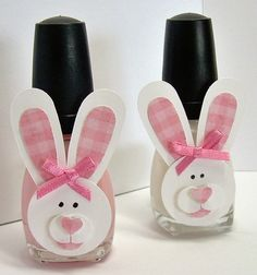 Here is quick little non - candy Easter surprise. I made some spiders  for Halloween and decided to make some bunnies for Easter.         ...