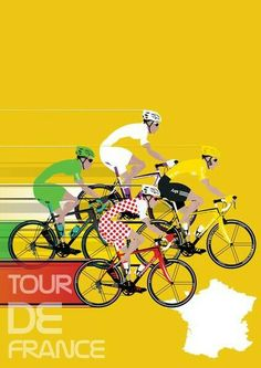 Vintage Poster - Tour de France - Sporting - Sport - Bikes - bicycling - cycling - cycle