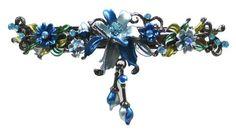 Amazon.com : Large Crystal Barrette YY86010-3blue : Hair Barrettes : Health & Personal Care